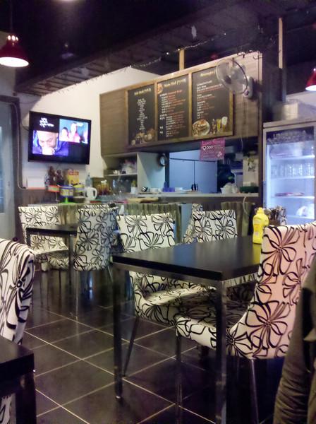 Inside the Chicago restaurant in Anjeong-ri.