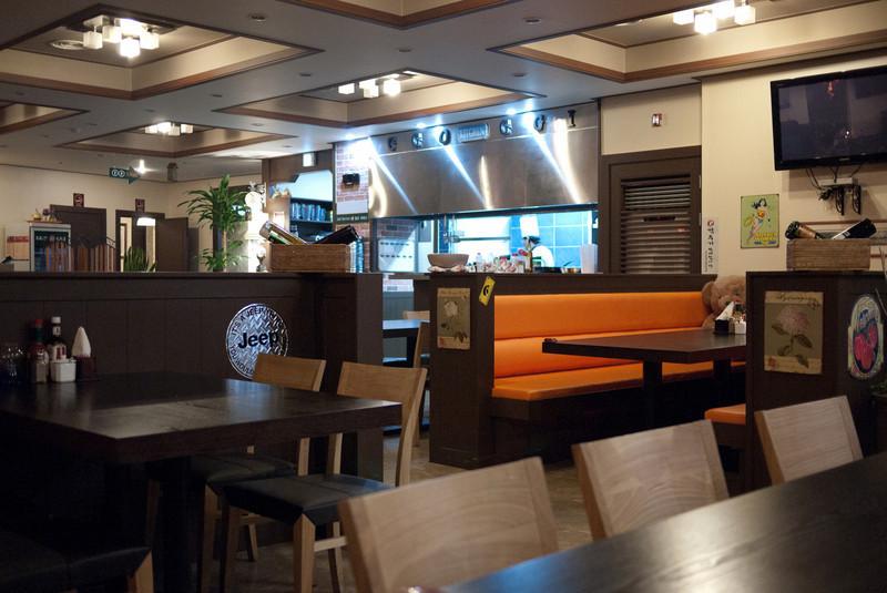 The inside of the GGO GGI restaurant.