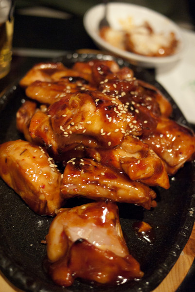 Korean Fried Chicken again in Songtan!  These pieces look boneless but they are not.