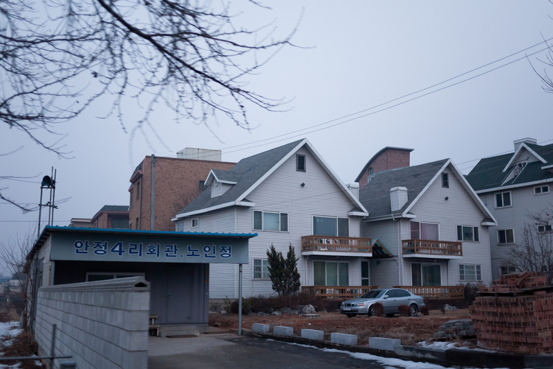 Some western style housing in Anjeong-ri.