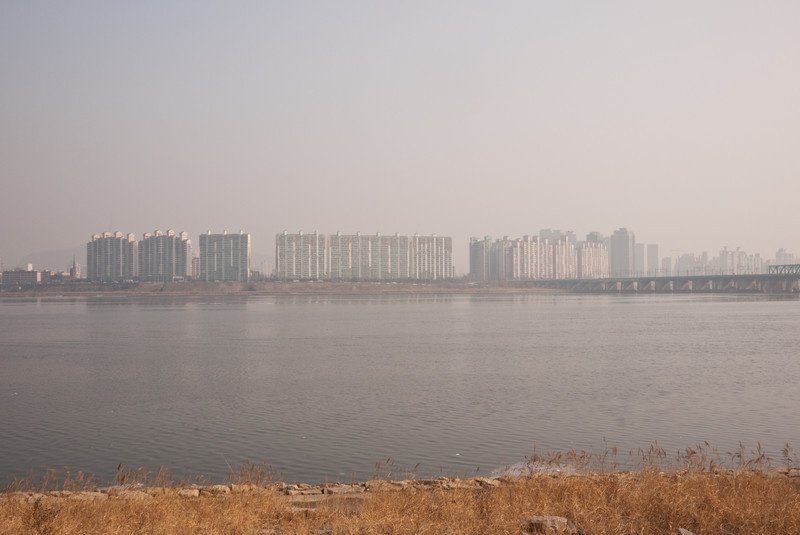The Han River and it's northern shore.