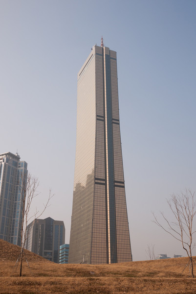 The 63 City building from the park on the shore of the Han.