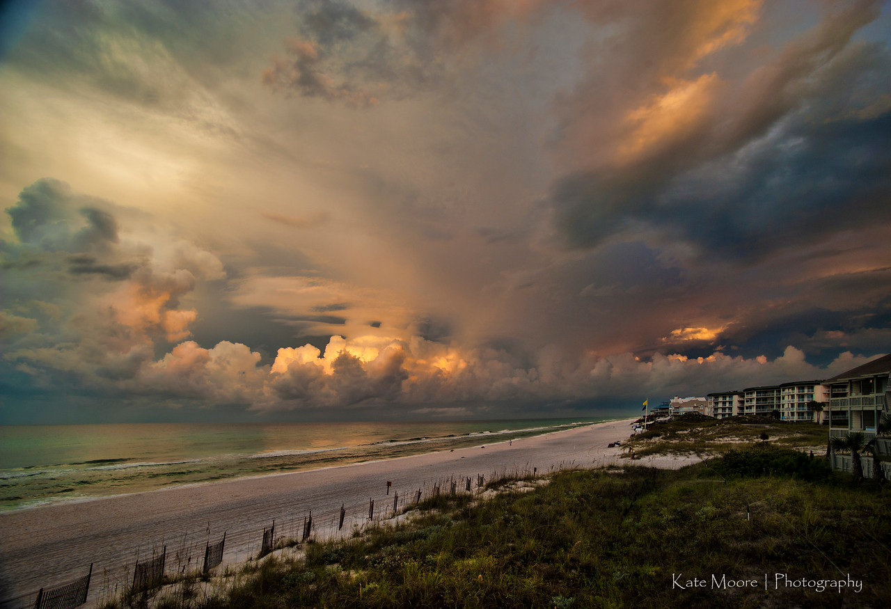 Storm rolls in over Seagrove dawn