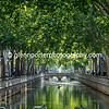 Tree lined canal, Nimes.