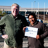 My brother, Mike, and our driver that will take us from Calama, Chile to the Bolivian border. A new spelling of our last name.