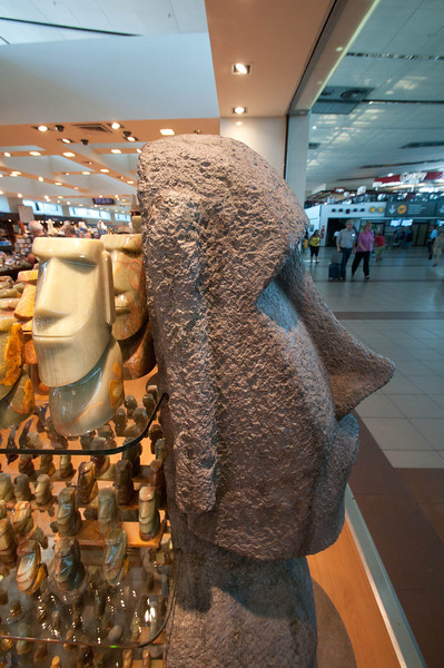 I started to get indocrtrinated to Easter Island at the Santiago airport.