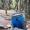 It was safe to drink the water in the park. Here's the campground's water supply. Just place your bottle under the flow and filler up.