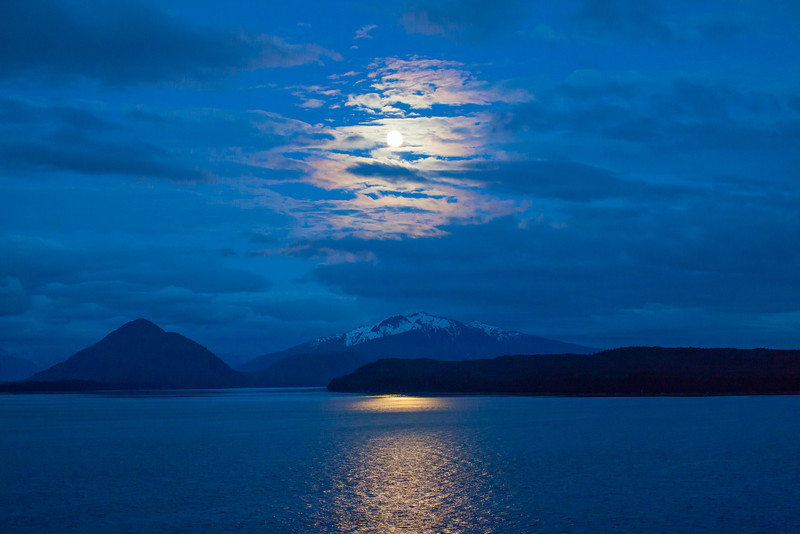 Moonlit Coastal Mountains