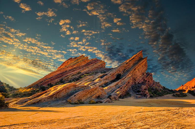 'Kirk's Rock' sunlit.