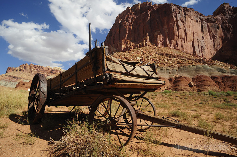 Abandoned wagon, Capitol Reef National Park