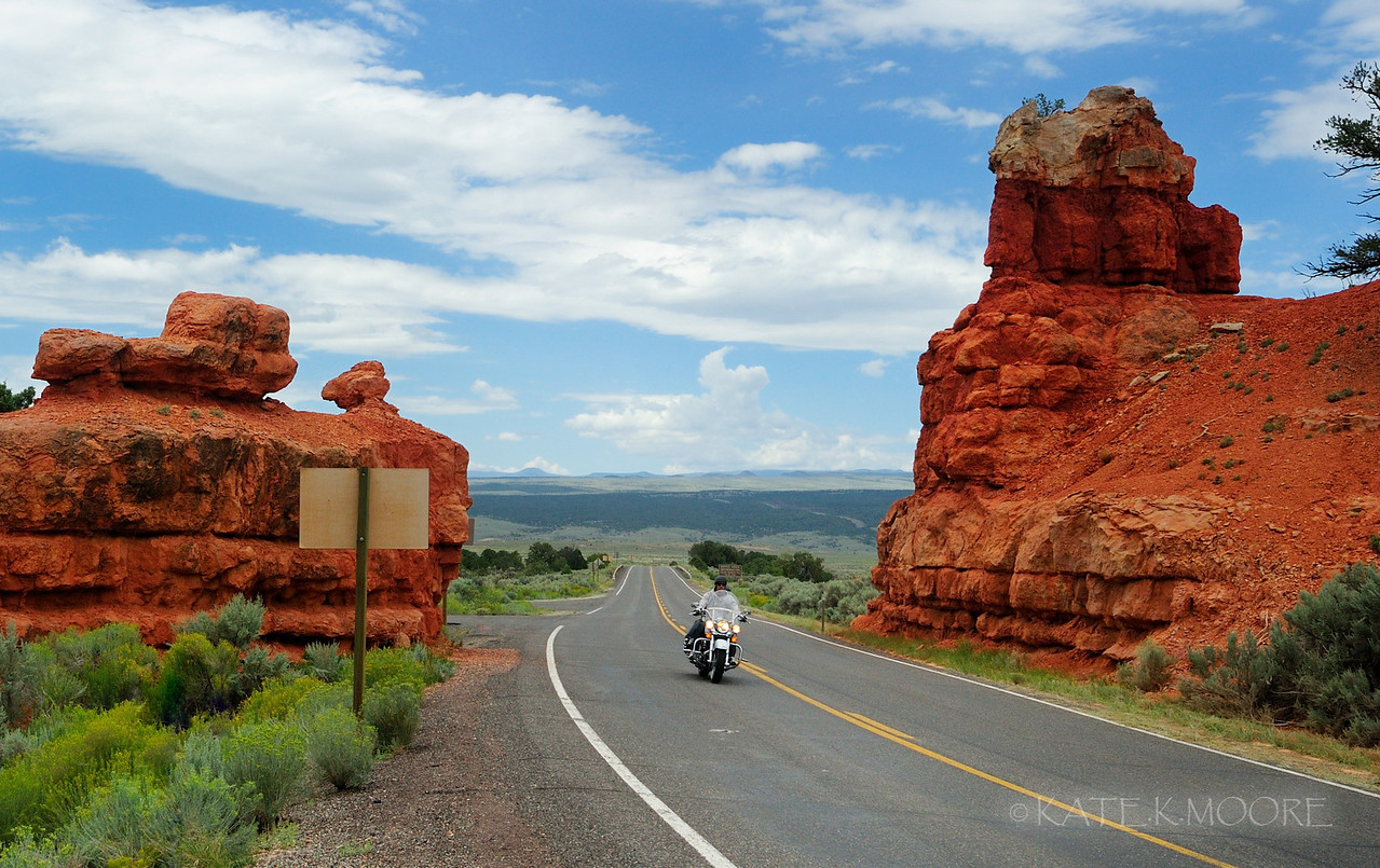 Red Canyon Rider. Scenic Hwy 12 Utah