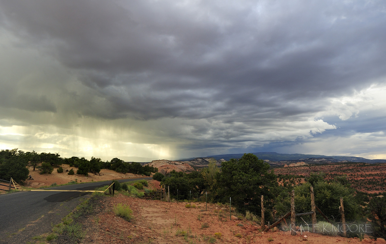 Desert rain, Burr Trail Road, Utah