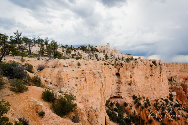 Storms in the distance. A cool and calm evening in Bryce Canyon National Park.