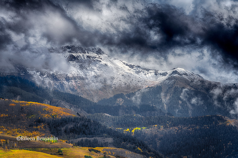 First Snow  over San Juan Mountains