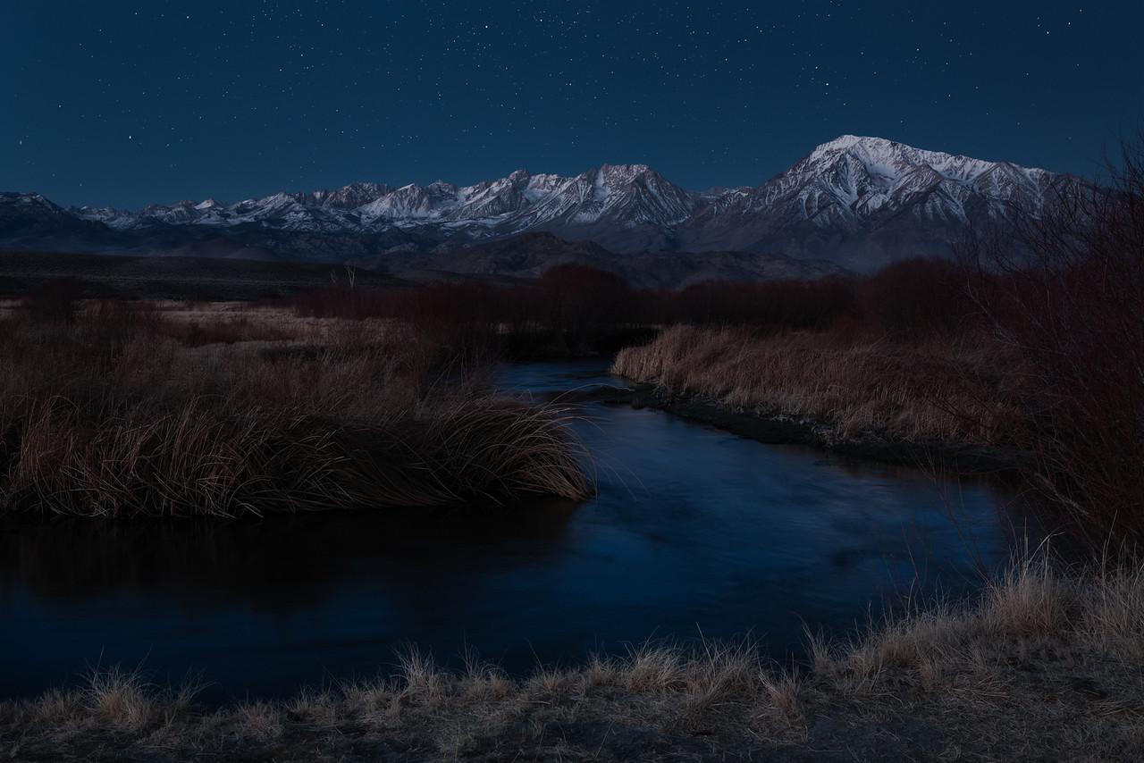Owens Valley Moonrise