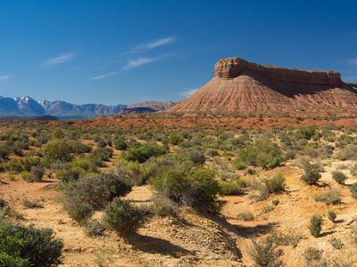 Blue Sky Desert Mesa
