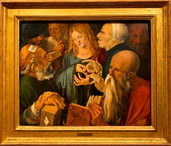 Jesus entre los doctores (Jesus Among the Doctors) - Alberto Durero (1506), Museo Thyssen-Bornemisza, Madrid