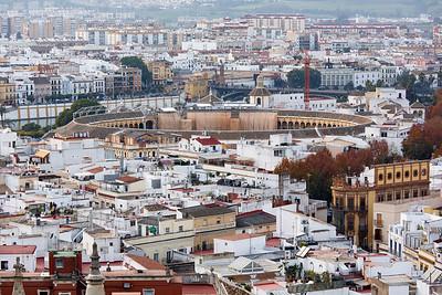 View of Plaza de Toros de la Real Maestranza (Est. 1760) from Giralda, Sevilla