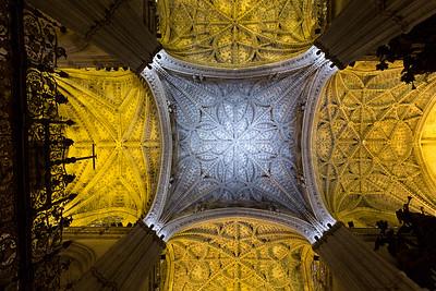 Ceiling of Catedral de Santa Maria de la Sede (16th century), Barrio de Santa Cruz, Sevilla