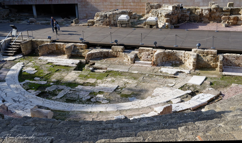 The remnants of a Roman theatre dating to the 1st century BC adjacent to the entrance of the Alcazaba.
