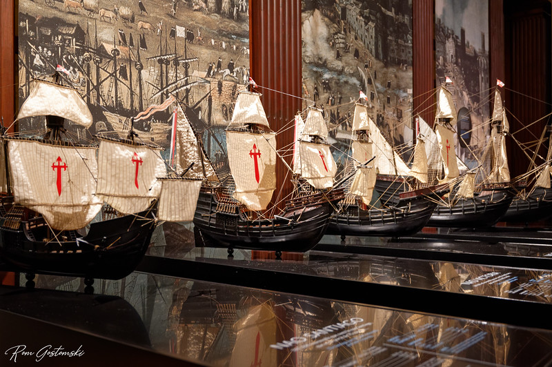 Wonderfully detailed models of the boats.