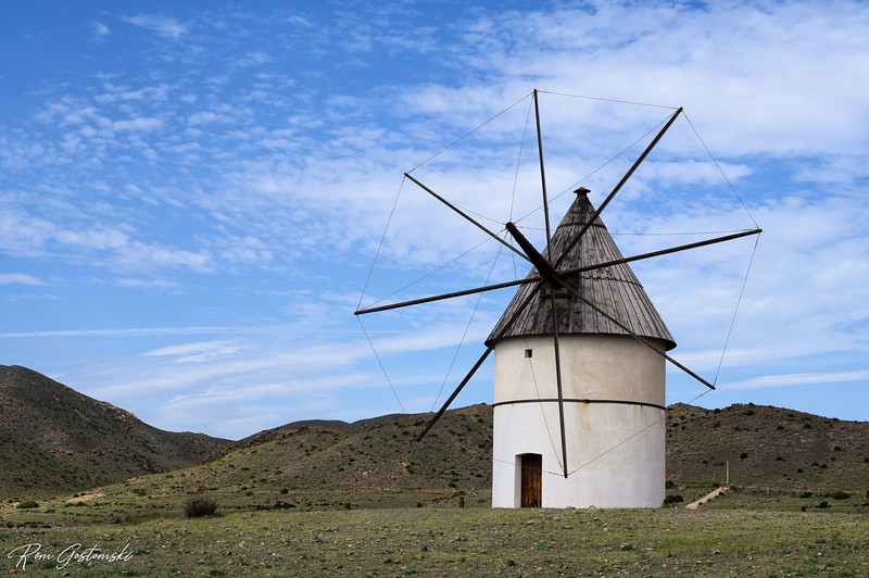 Windmill near Pozo de los Frailes, Spain