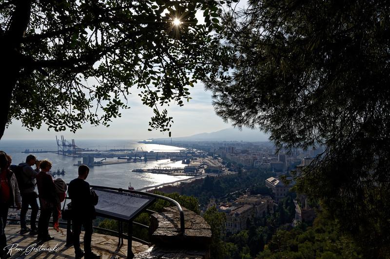 Mirador de Gibralfaro with views of Malaga and the Mediterranean Sea