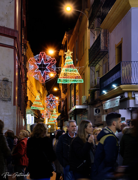 Christmas lights in Sevilla