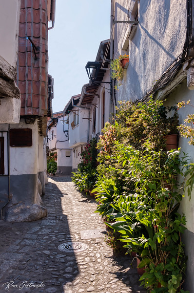 A narrow cobbled street