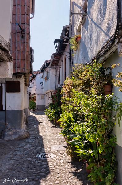 A narrow cobbled street