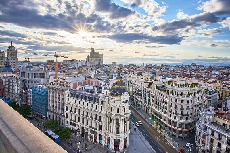 View from the Círculo de Bellas Artes roof terrace in Madrid