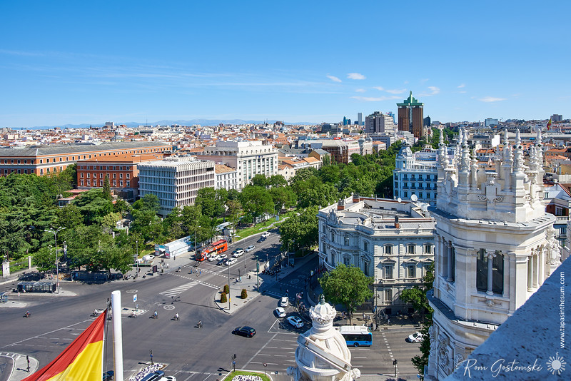 Madrid from a rooftop terrace