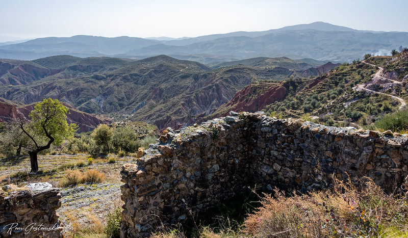 The remains of an abandoned cortijo near Yegen.