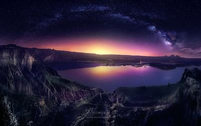 Vía Láctea sobre las Barrancas de Burujón