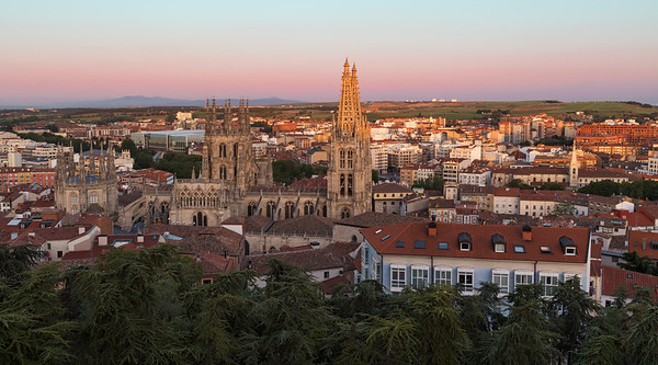 Sunset over Burgos