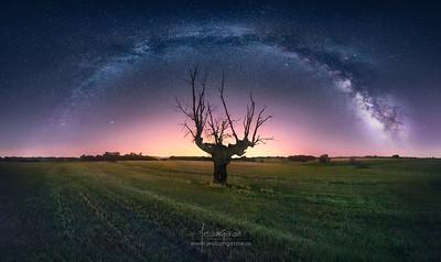 Vía Láctea sobre Malacuera