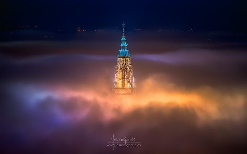 Toledo City Foggy Night