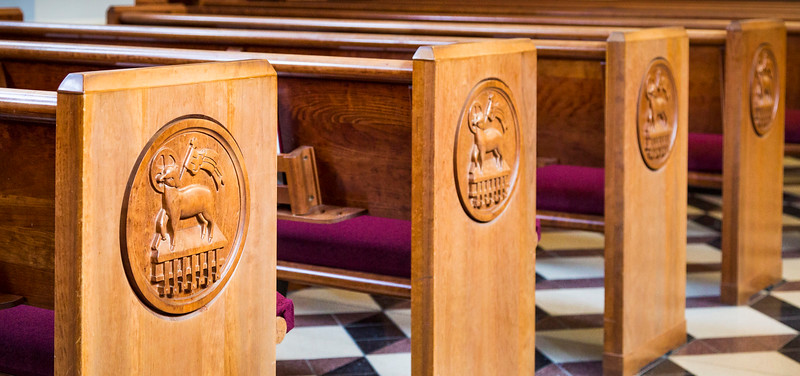 Pews in Hodges Chapel