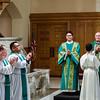 Congregation recognizing Bob's ordination as a Deacon
