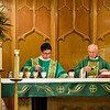 Msgr. Ron & Bob preparing Holy Communion