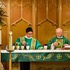 Msgr. Ron & Bob preparing Holy Communion