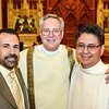 Michael Cavallo, Deacon Andy Saunders with Bob