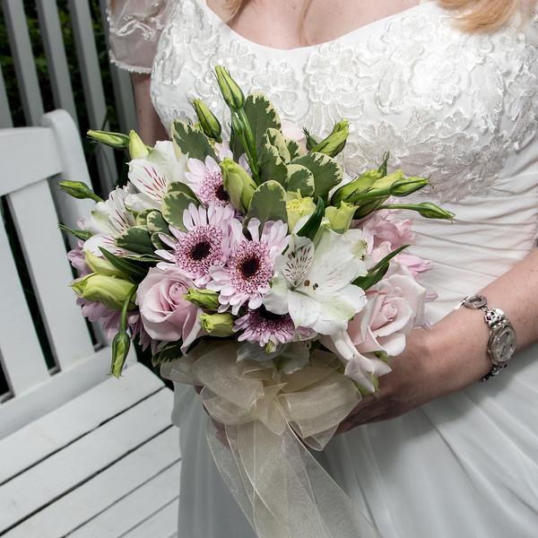 Lisa's wedding bouquet
