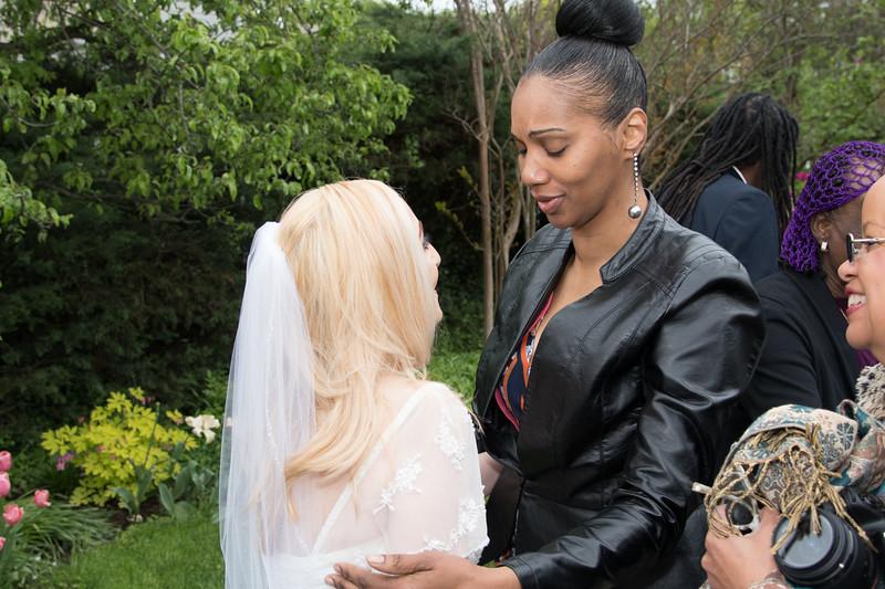 Brenda congratulates Lisa
