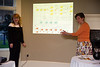 Joan & Dianne presenting a work flow of Barry's career
