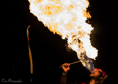 A very talented fire eater showed up at a Halloween Party over the weekend and I couldn't resist capturing it for all to see.