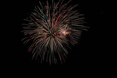 Fireworks in the sky at Coney Island, Cincinnati