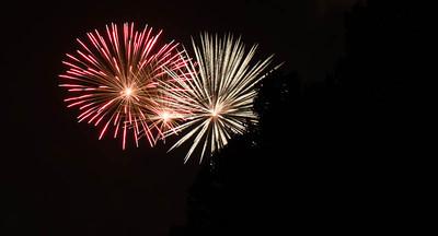 Fireworks in the sky over Coney Island, Cincinnati