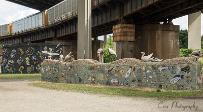 Some very interesting art along the Colorpalooza route.  Just east of Longworth Hall.