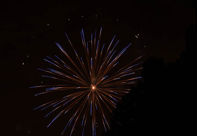 Fireworks over the sky at Coney Island, Cincinnati